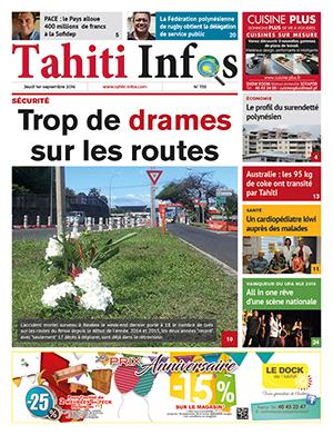 TAHITI INFOS N°735 du 1er septembre 2016