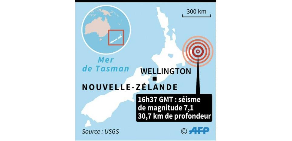 Nouvelle-Zélande : alerte au tsunami après un fort tremblement de terre
