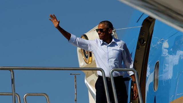 Obama fait escale à Midway, au milieu du Pacifique