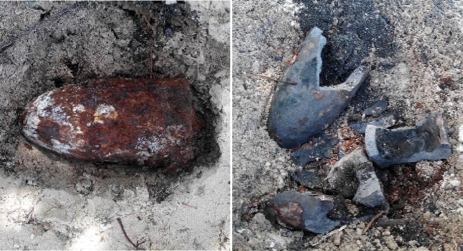 L'obus qui a été trouvé mesurait 16 cm et pesait 30 kg, dont 4 kg de poudre noire. Il a été neutralisé à l'aide d'une petite charge qui n'a causé aucune explosion.