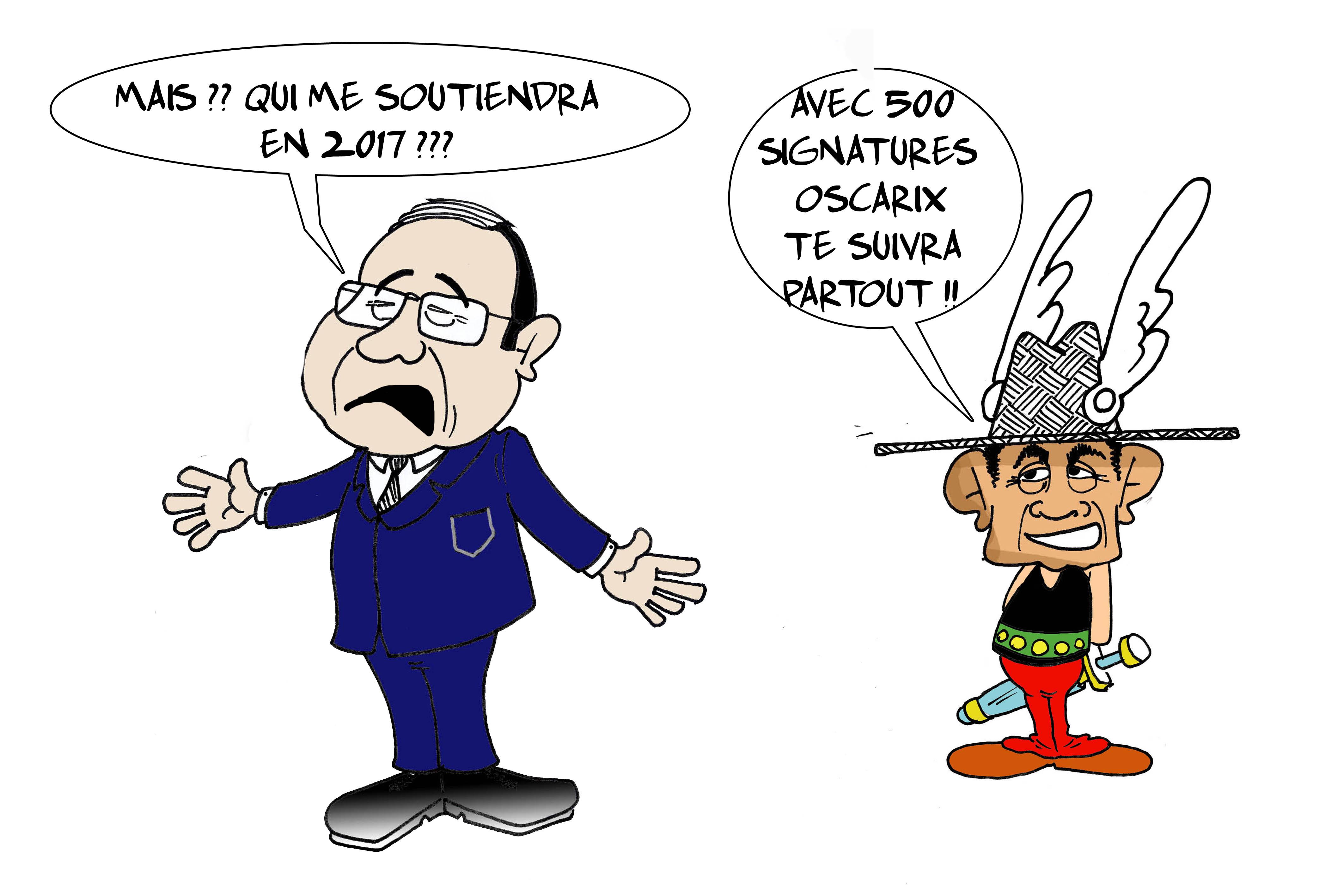 """"""" Le tête-à-tête Oscar / Hollande """" par Munoz"""