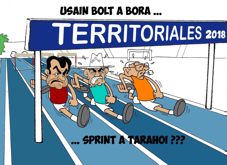 """"""" Le sprint à Tarahoi """" vu par Munoz"""
