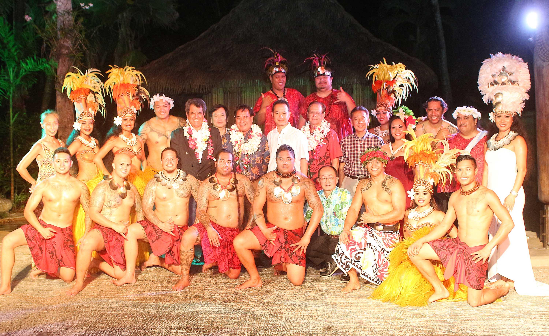 Le président Fritch rencontre des Tahitiens à Guam