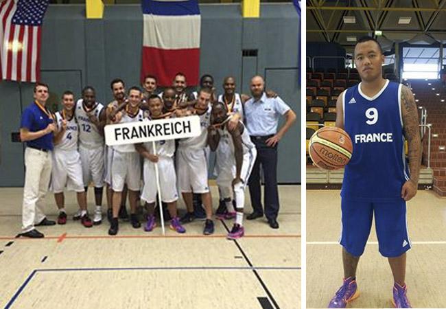 Basket : Tournoi militaire : Une médaille d'argent pour Jacky Leau Kang Mui