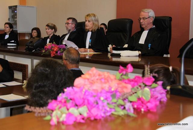 Cécile Leingre, présidente du tribunal de première instance de Papeete, a présidé cette audience solennelle.