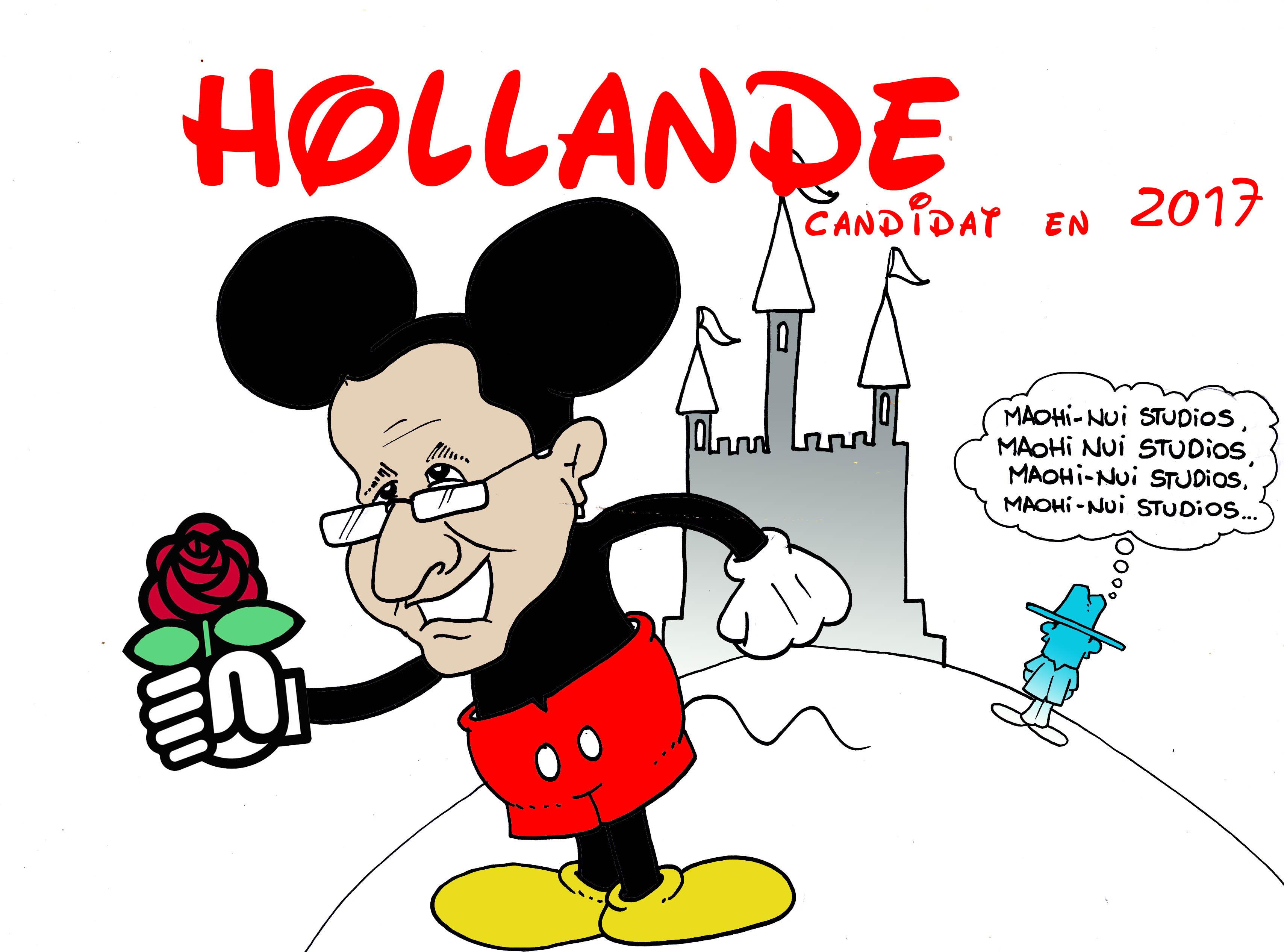 "Présidentielle 2017 : Hollande candidat "" vu par Munoz"