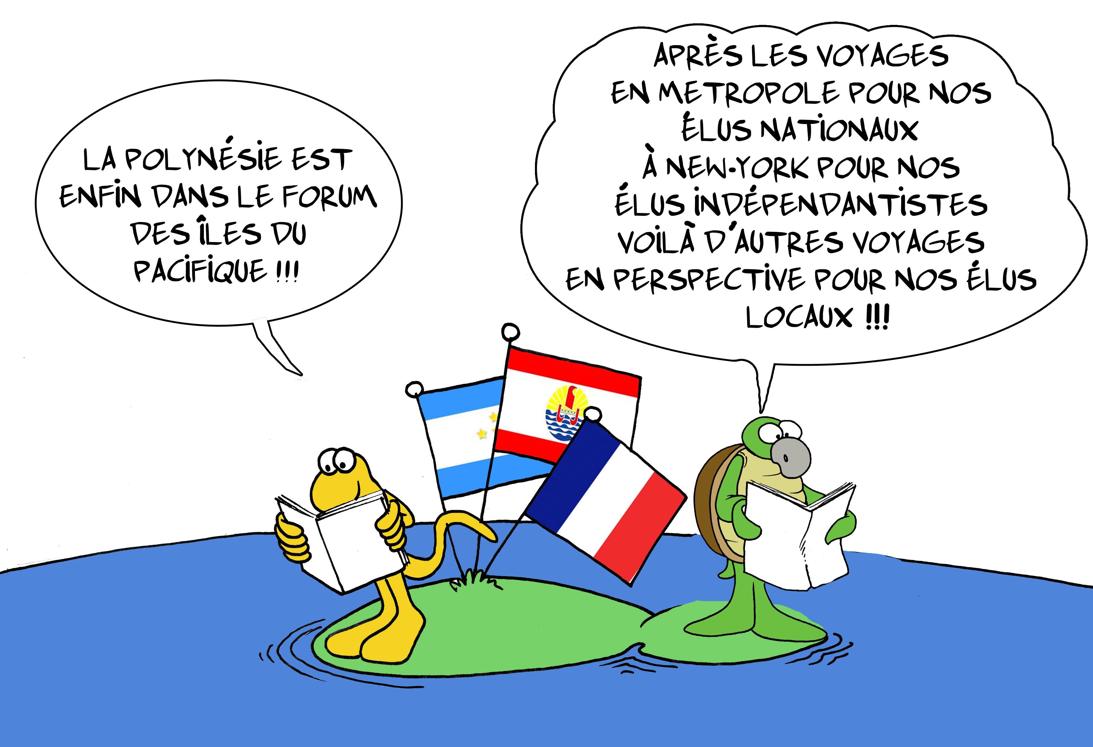 """"""" Le forum du Pacifique """" vu par Munoz"""