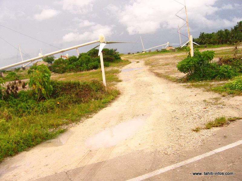 Depuis 2010, après l'arrêt de l'exploitation de ses éoliennes, la société Te Mau Ito Api ne produit plus qu'une énergie d'origine thermique à Makemo.