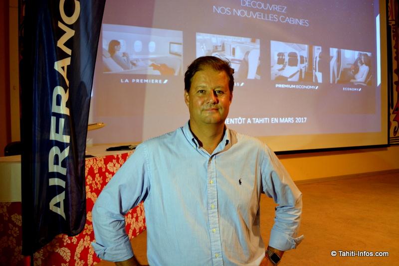 Alex Hervet, directeur régional d'Air France, a présenté les nouvelles cabines de la compagnie aérienne
