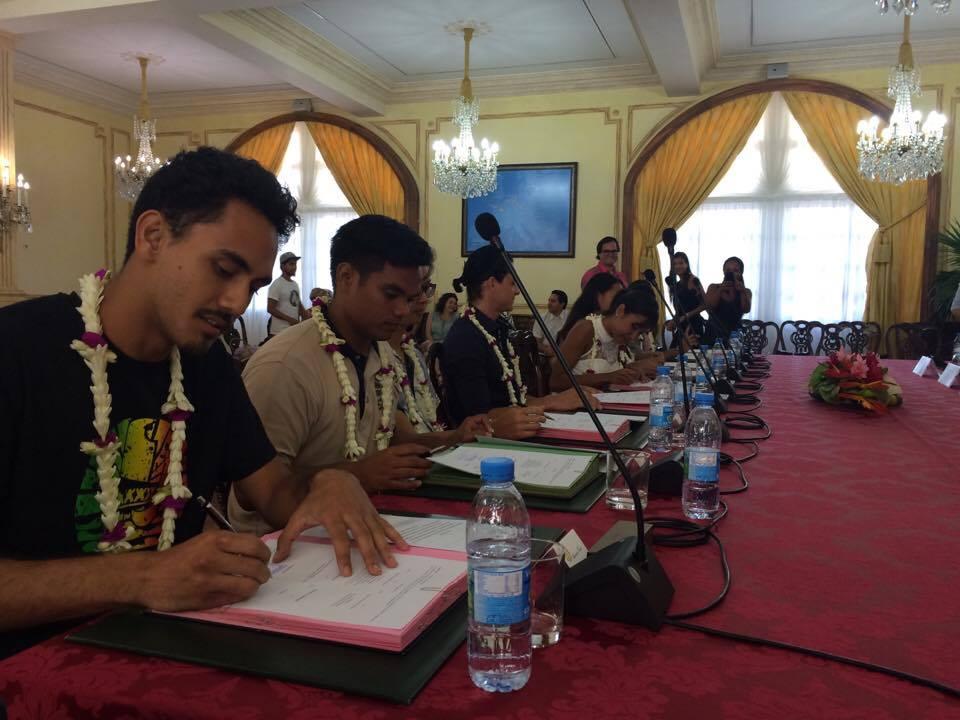10 Polynésiens à Shanghai : les conventions sont signées