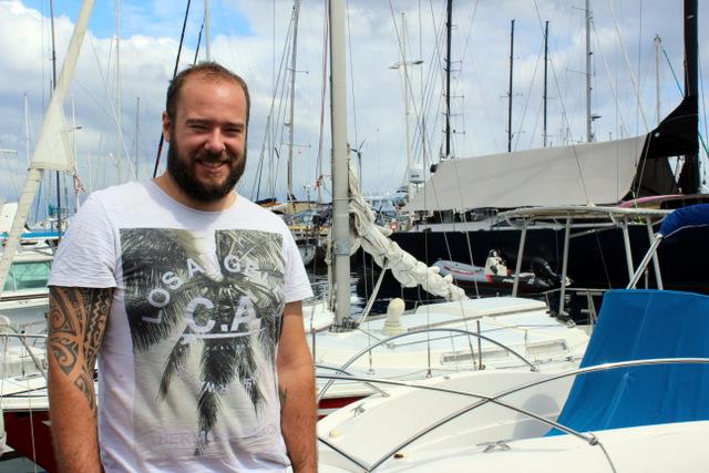 Brice Borget, un artisan voilier formé au fenua
