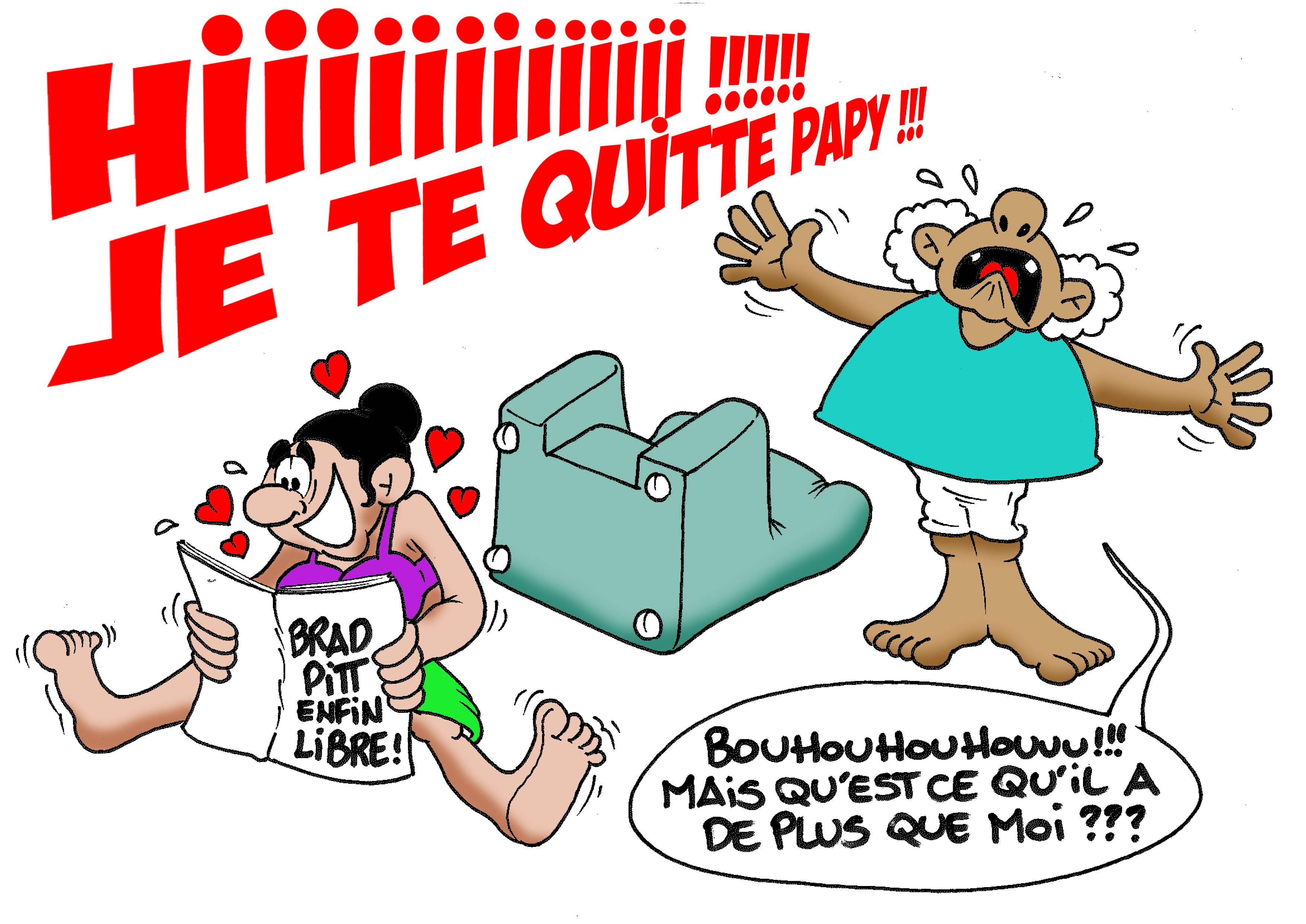 """ Brad Pitt enfin libre! "" par Munoz"