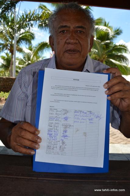 Une pétition a été mise en place pour les habitants de Takume