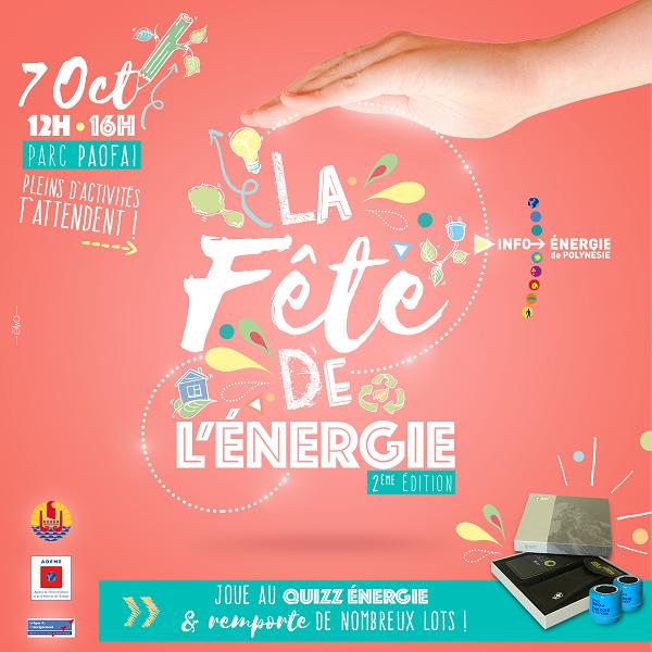 La Fête de l'énergie vendredi 7 octobre à Paofai