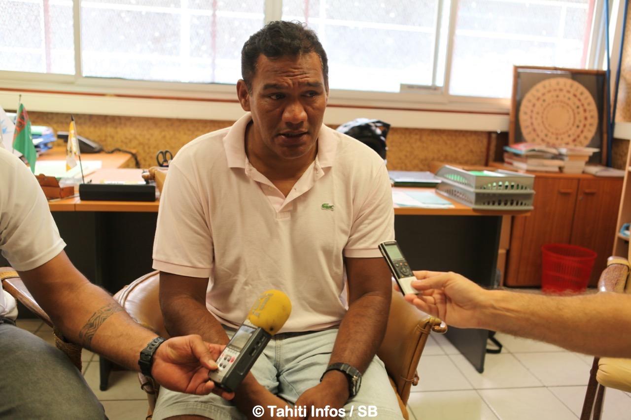 M. Tauhiti Nena au siège du COPF