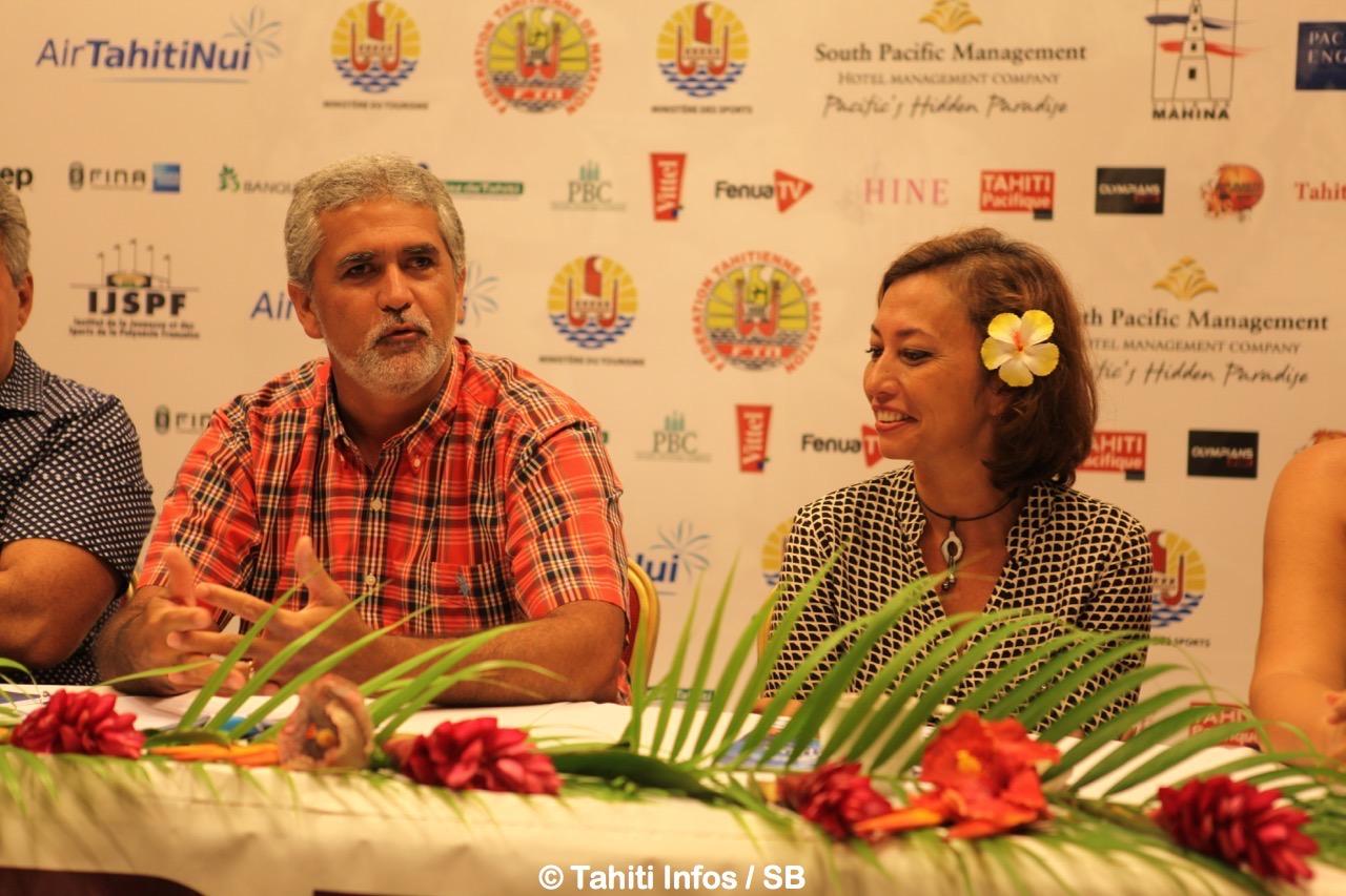 Michel Sommers et Nicole Sanquer-Fareata