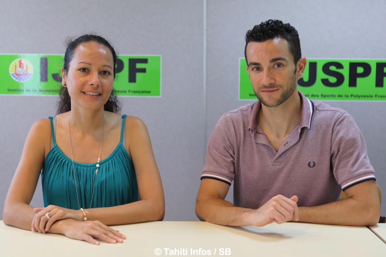 Cécile Tiatia conseillère technique au ministère des sports et Emmanuel Haessler de la MAAT