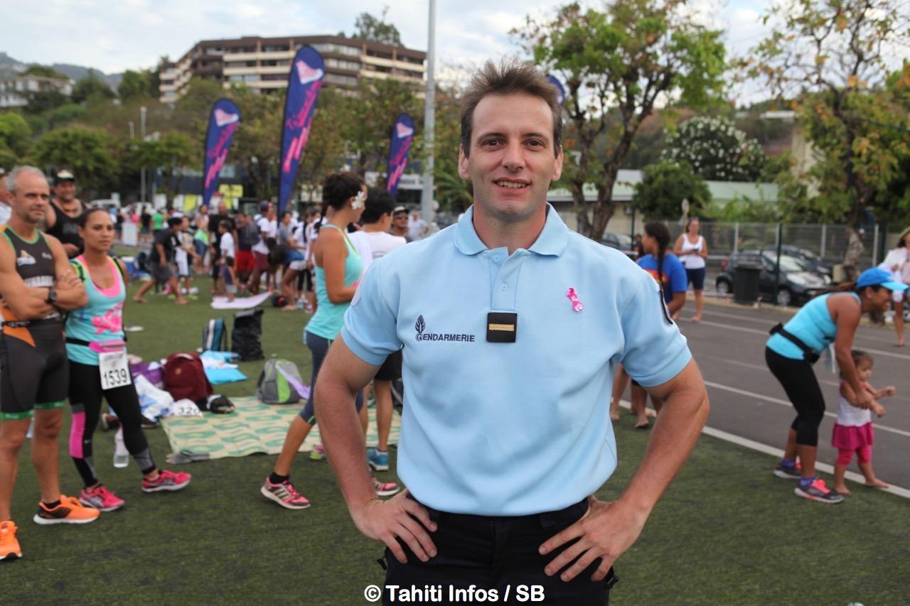 L'adjudant Mathieu de la gendarmerie nationale