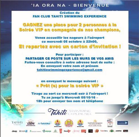 Les plus grandes stars de natation à l'aéroport de Tahiti Faa'a mercredi soir