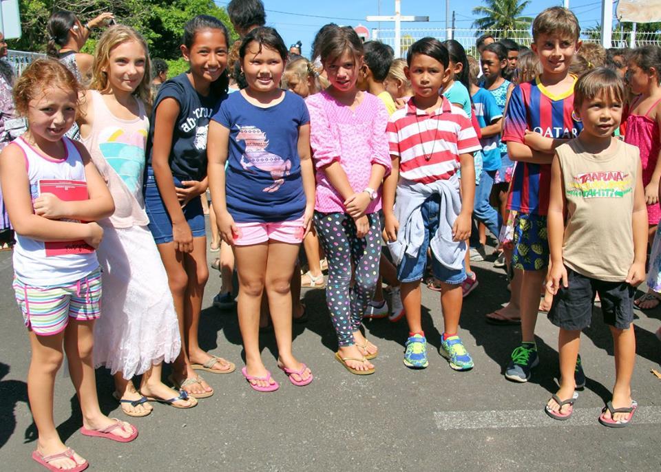 Les huit délégués éco de l'école Tamahana.