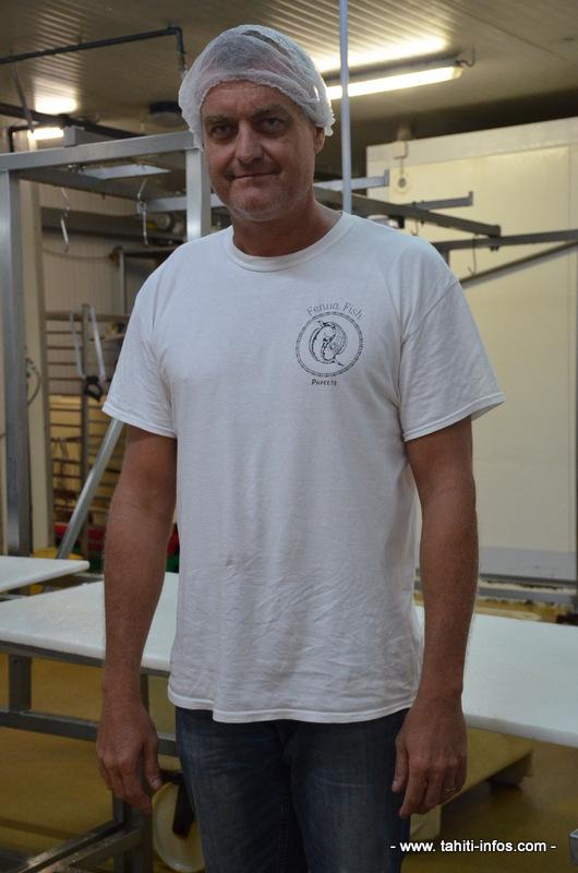 Christophe Pisselis, gérant de la société Fenua fish.