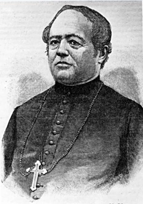Monseigneur Tepano Jaussen, évêque de Tahiti, qui avait autorité sur la mission catholique de l'île de Pâques et qui demanda son évacuation face aux dangers que Dutrou-Bornier faisait courir à ceux qui n'acceptaient pas de vivre sous son joug.