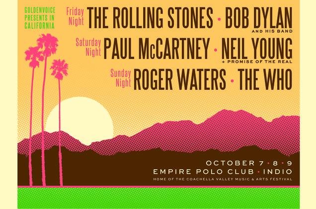 Les légendes du rock dans le désert californien pour un concert de tous les records