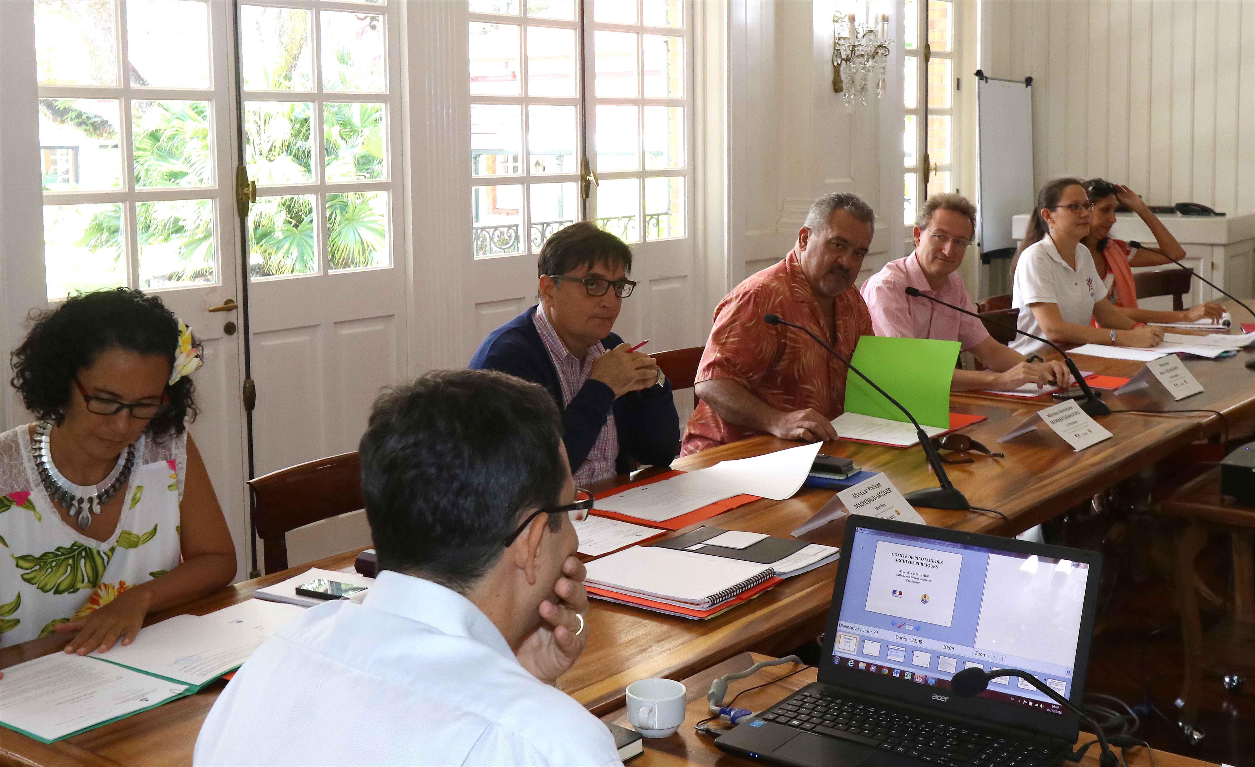 Séance inaugurale du comité de pilotage des archives de la Polynésie française