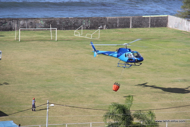 La société Tahiti Helicopters a été sollicitée pour des largages aériens.