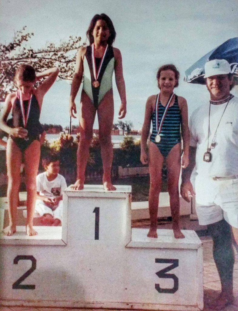 Puatea a commencé par la natation