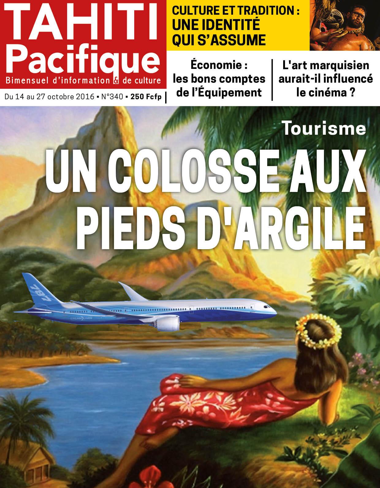 A la Une du Tahiti Pacifique d'aujourd'hui