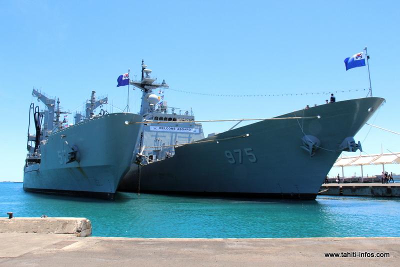 Un marin de la Marine coréenne se fait une belle frayeur dans le port de Papeete