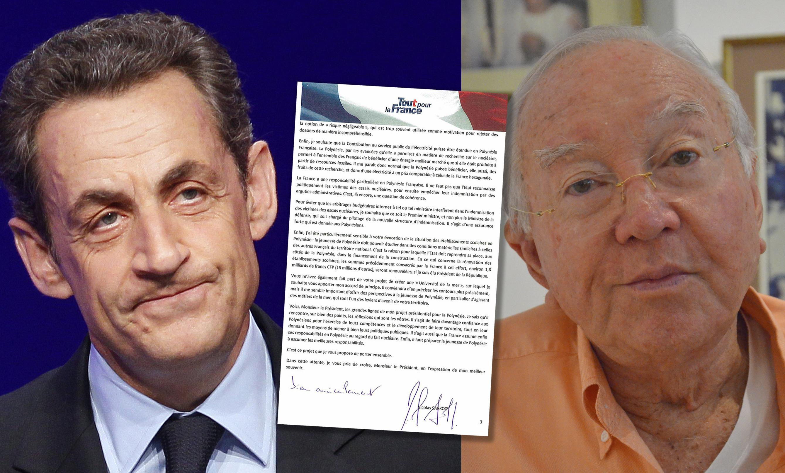 Les Promesses De Nicolas Sarkozy A Gaston Flosse