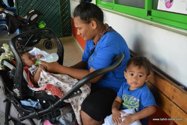 Hina et ses deux enfants