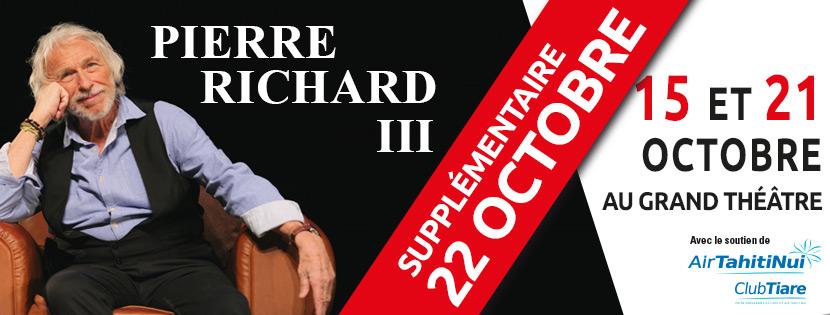 """""""Pierre Richard III"""" : le comédien français offre au public polynésien une représentation supplémentaire samedi"""