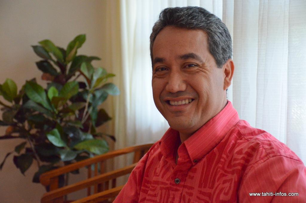Marcel Tuihani, président de l'assemblée et rapporteur de cette proposition de délibération visant à modifier le règlement intérieur de l'institution.