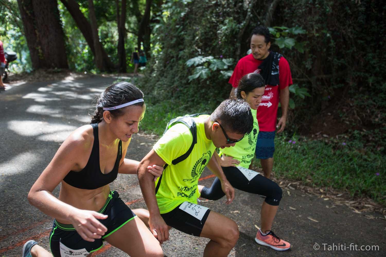 La course à pied était agrémentée de 4 ateliers d'exercices