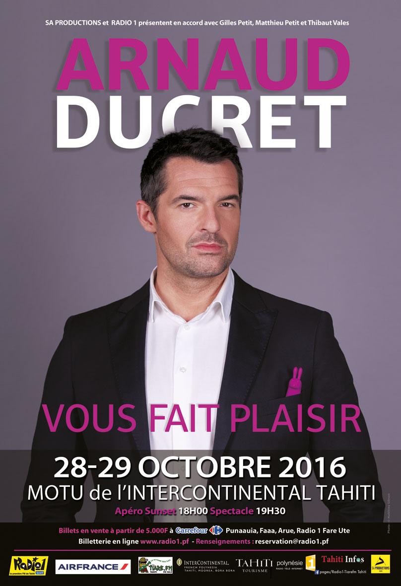 """Arnaud Ducret : """"On est là pour s'amuser, déconner, j'ai envie d'emmener le public avec moi !"""""""