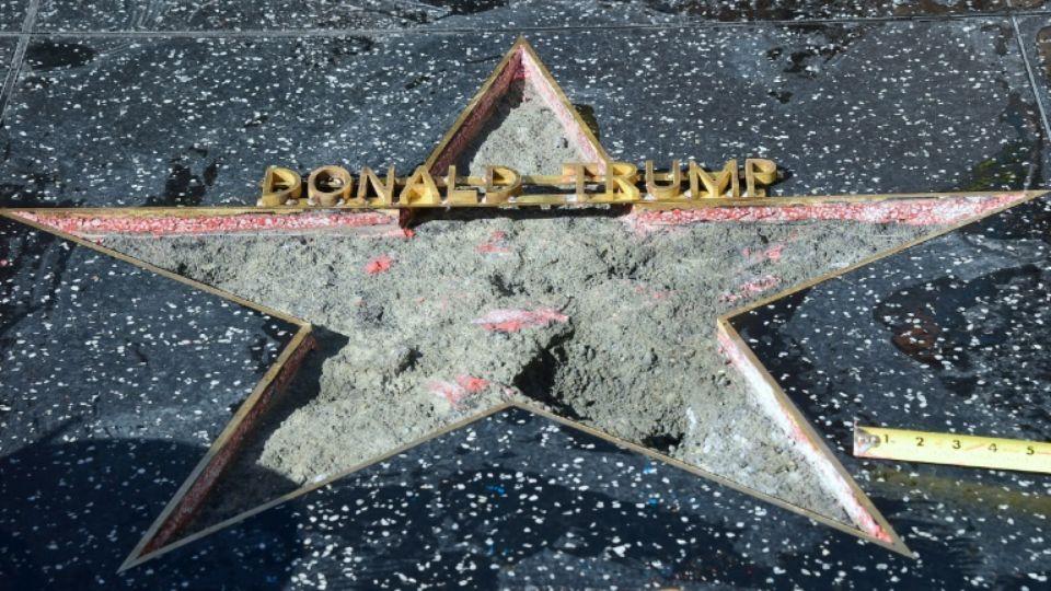 L'étoile de Trump à Hollywood à nouveau vandalisée