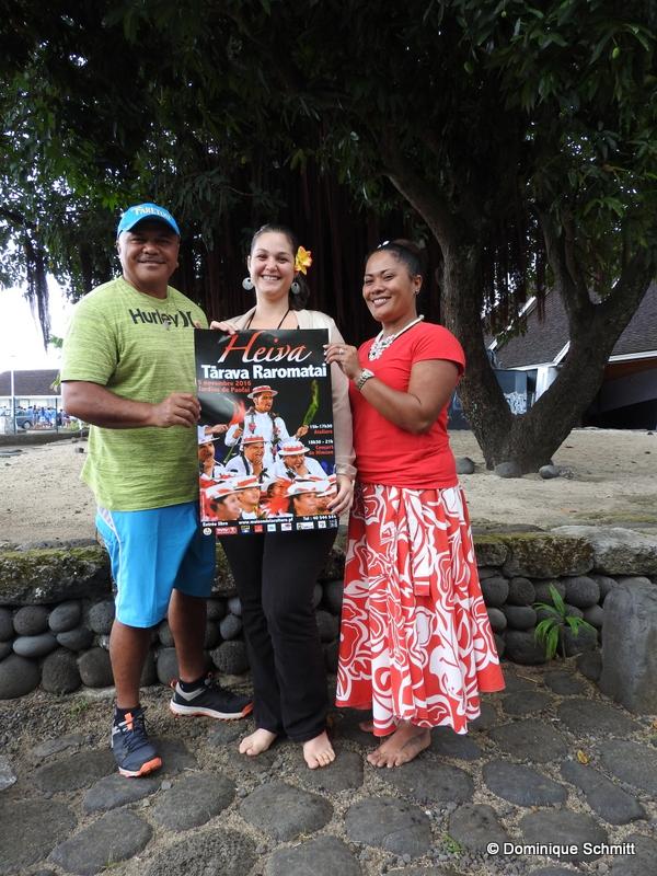 Edwin Teheiura, chef du groupe Faretou et membre du comité organisateur, Hinatea Ahnne, la directrice de la Maison de la culture, et Tanya Tahauri, la nouvelle chargée de mission au ministère de la Culture pour la promotion des langues, ont présenté hier la deuxième édition du Heiva Tārava.
