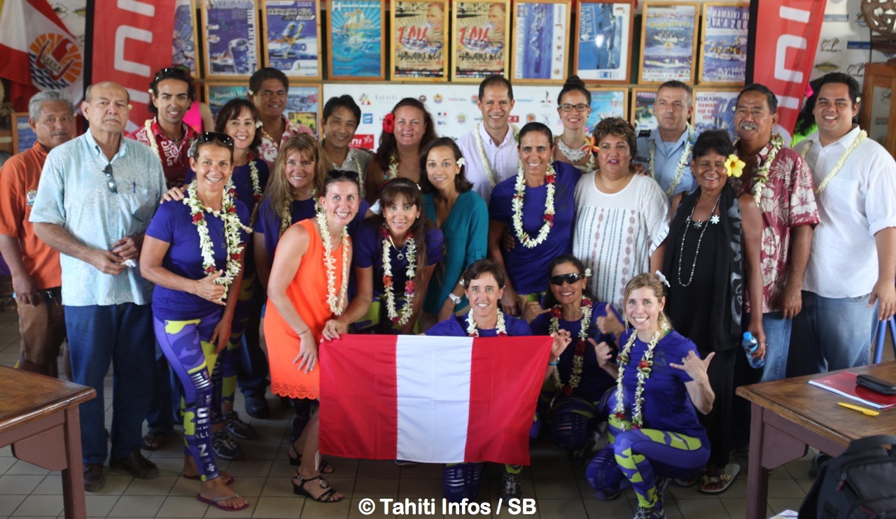 L'équipage féminin péruvien était présent