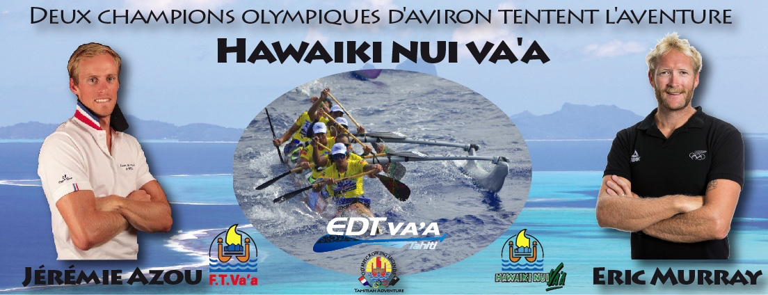 Hawaiki Nui Va'a 2016 – Deux champions olympiques d'aviron tentent l'aventure