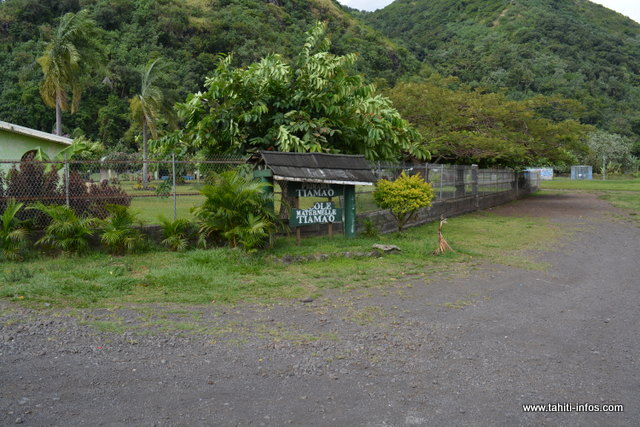 Selon le maire de Papara, la commune devrait être propriétaire du terrain de l'école de Tiamao, l'an prochain