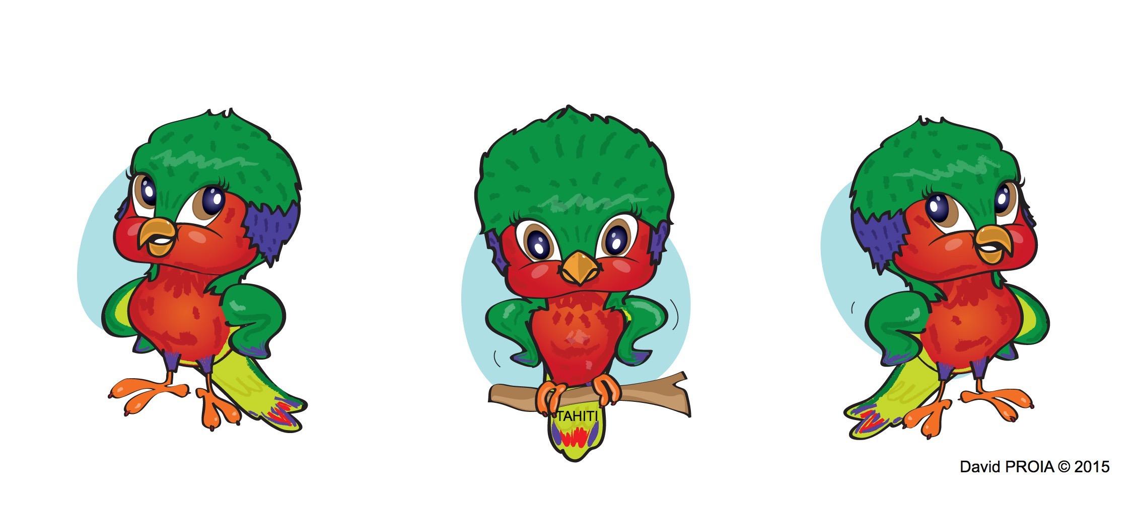 Vik'ura, la star de notre page dédiée aux enfants dans Tahiti Infos, tous les mercredis.
