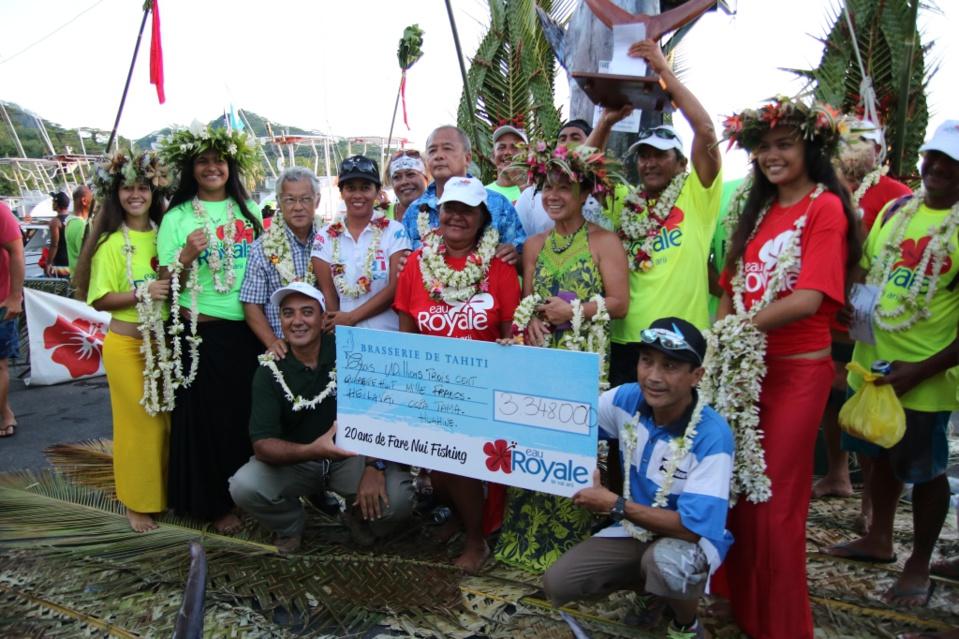 """Concours de pêche """"Huahine Hawaiki Nui 2016"""" : un jackpot de plus de 3MF pour le Heilavai"""