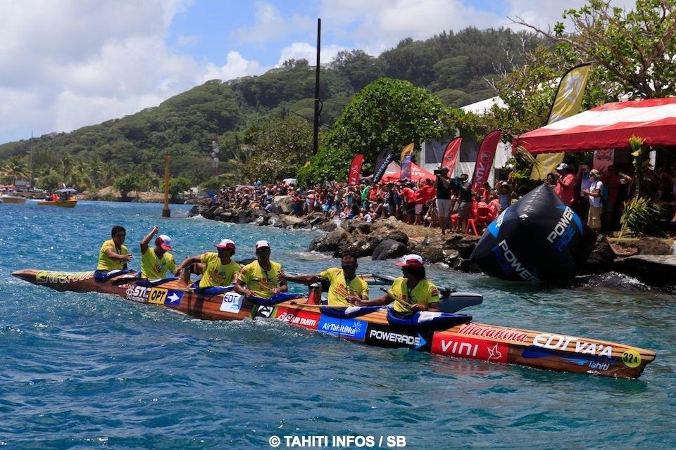 """Hawaiki  Nui Va'a : Edt Va'a remporte la première étape """"sur le fil"""""""