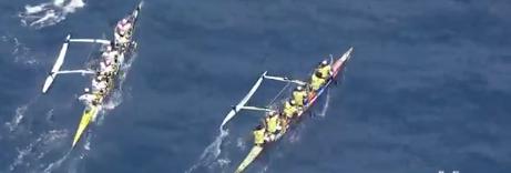 """Hawaiki  Nui Va'a: EDT remporte la première étape """"sur le fil"""""""