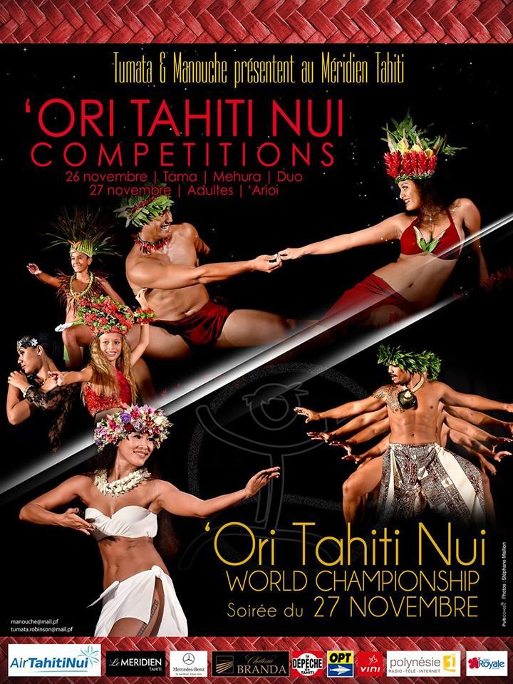 La cinquième édition du 'Ori Tahiti Competitions se déroulera les 26 et 27 novembre, au Méridien Tahiti.