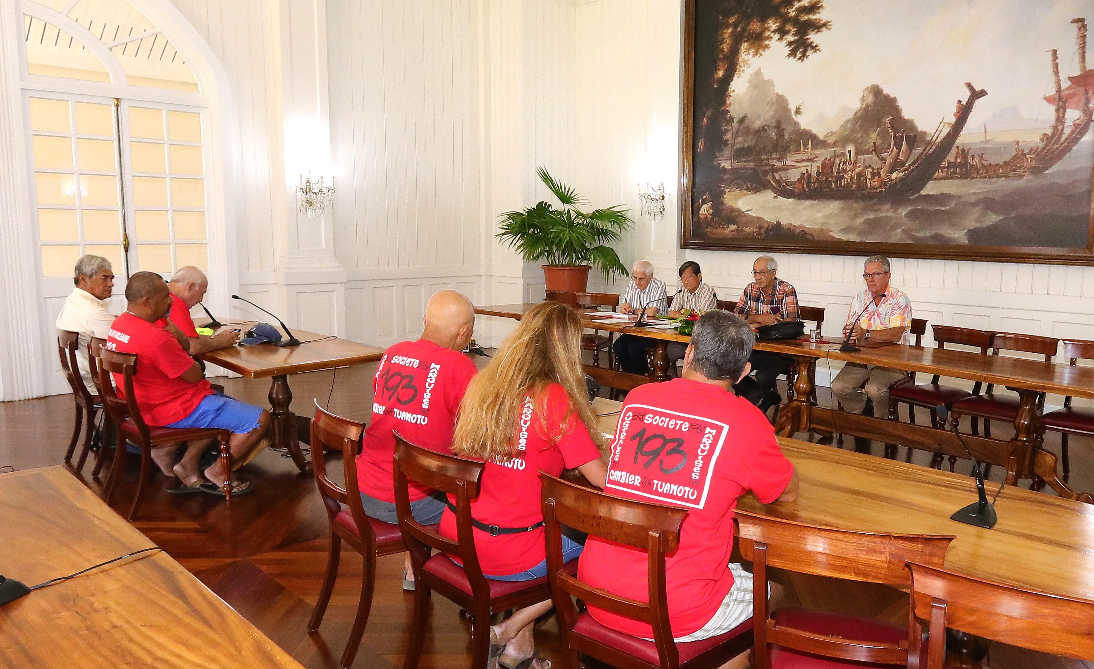 Graviers de Hao : une délégation de 193 reçue à la Présidence