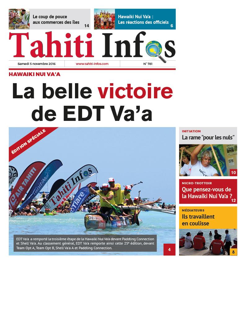 Une édition spéciale de Tahiti Infos ce samedi pour la Hawaiki Nui Va'a